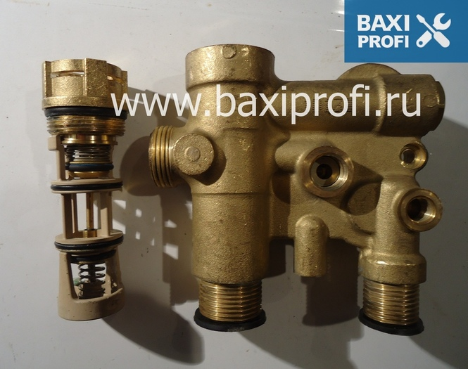 3-ходовой клапан в сборе для котлв BAXI Eco Four, Luna-3 арт. 5693870 БАКСИ ПРОФИ